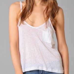 Joe's Jeans White Linen Renata Tank Medium NWT