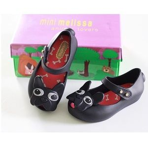 Mini Melissa Other - black dog jelly shoes