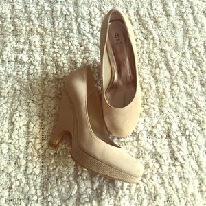 Bakers Shoes - Nude blush tone wedge pumps