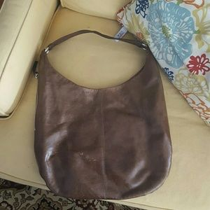 Authentic Hobo brown leather bag.