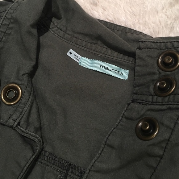 Maurices Jackets & Coats - Maurices cargo light jacket M army green