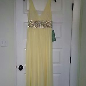 Pastel Yellow Floor Length Dress