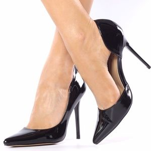 ShuShop Shoes - ShuShop Black Patent D'orsay Pumps