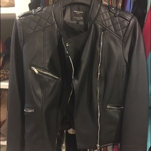 Zara small faux leather jacket