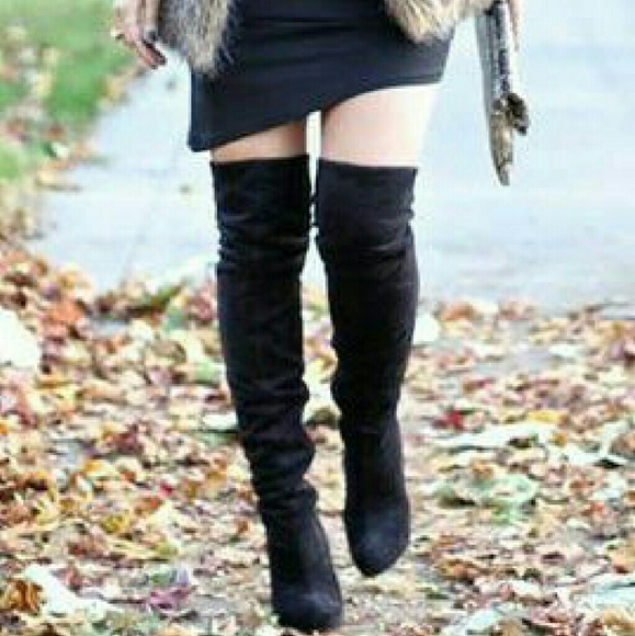ab401b58883 Closet clearance! Thigh high suede feel boots!