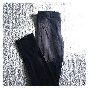GAP Pants - Black cotton stretch knit trousers