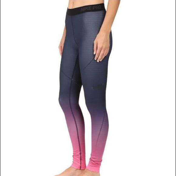 f353790c20a728 Nike Pants | Pro Hyperwarm Ombr Tights | Poshmark