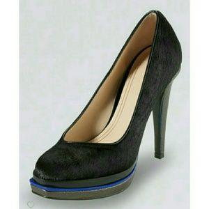 Like New! COLE HAAN calf hair double platform heel