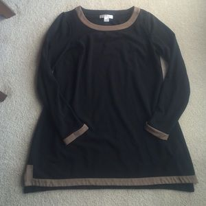Christopher & Banks Tops - Camel and black tunic