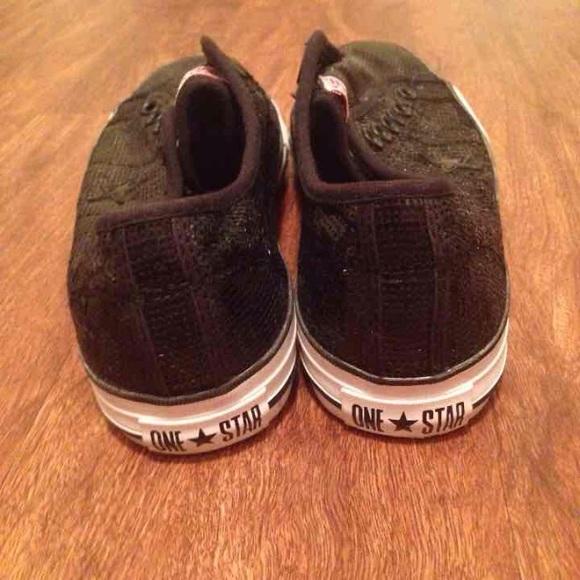7b87d17582055b Converse Shoes - Converse black sequence sparkle
