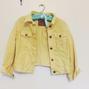 "H&M Jackets & Blazers - Vintage-inspired Yellow ""Denim"" Jacket"