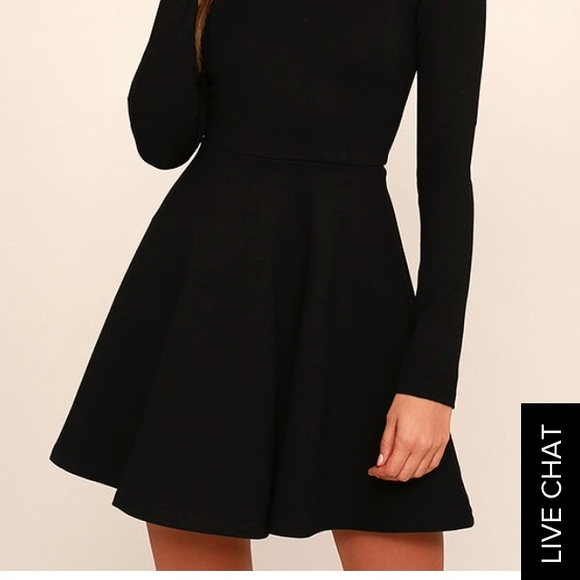 34 off lulu 39 s dresses skirts lulus long sleeve skater for Online stores like lulus