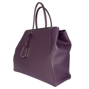 Fendi Handbags - Fendi 2Jours leather bag in eggplant violet