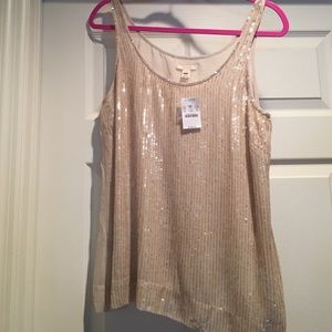 NWT J. Crew sequined silk tank top