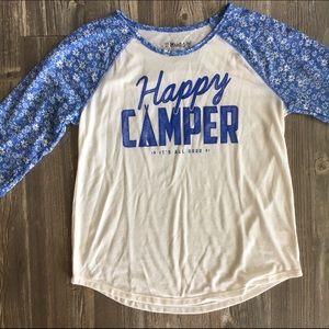 Mudd Other - Happy Camper Baseball Tee