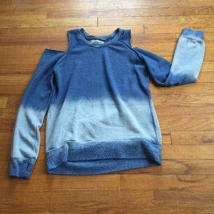 NWOT Ombré cold shoulder sweatshirt