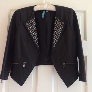 SALE** Studded Real leather jacket