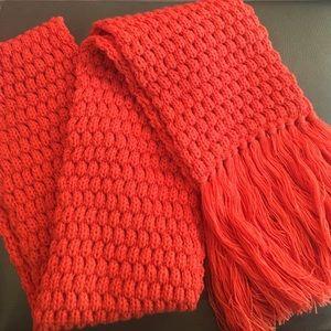 ✨new✨🍁 Orange knit scarf