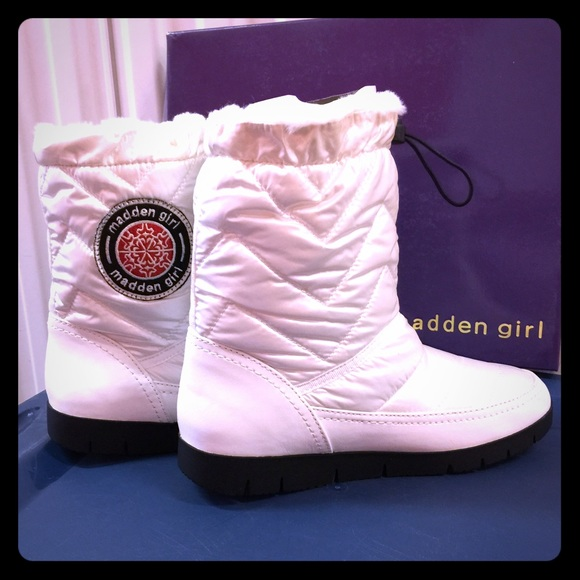 1b528bacf32 Brand New White Boots. NWT. Madden Girl