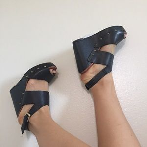 Pull&Bear Shoes - Pull & Bear Leather Wedges