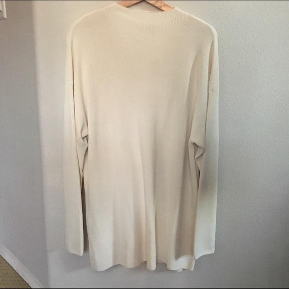 cf8e9bff716 NWT High neck cream oversized sweater dress