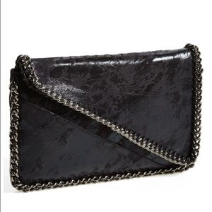 NWT Leith Chain Embellished Black Clutch