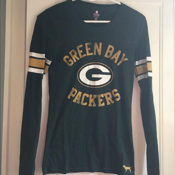 sale retailer 8d118 d62bd VS Pink Green Bay Packers shirt