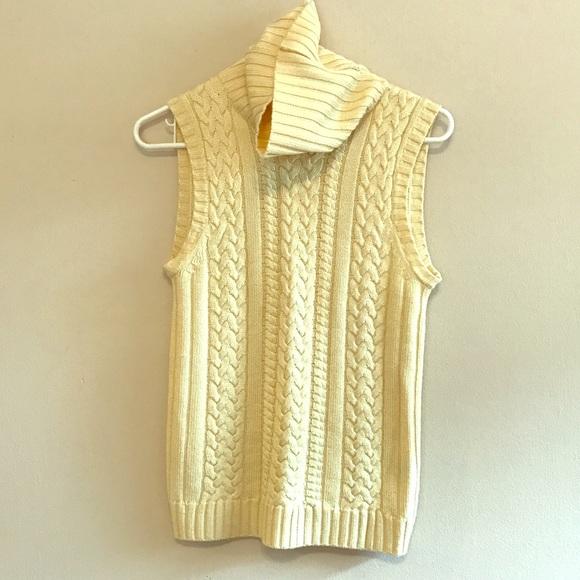 83% off Ellen Tracy Sweaters - Ellen Tracy Pale Yellow Sweater S ...
