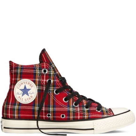 b67c6a7125e1 Converse Shoes - Converse All-Star Tartan Plaid high tops Men 5 WO7