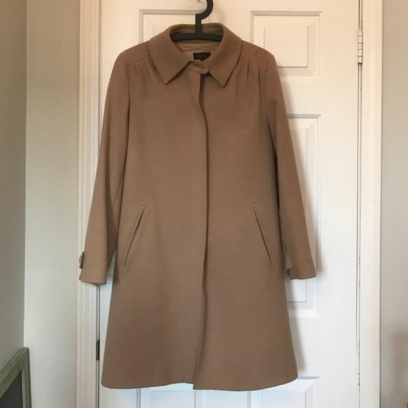 60% off APC Jackets & Blazers - APC wool camel car coat L from