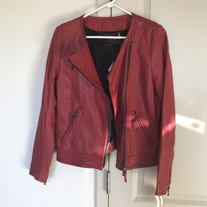 Coach Loganberry Leather Coat