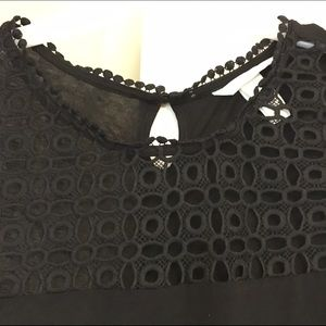 Black tunic style top