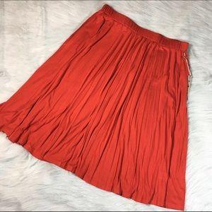 Olivia Moon Dresses & Skirts - 🆕 NWT Olivia Moon Pleated Maxi Plus Size Skirt