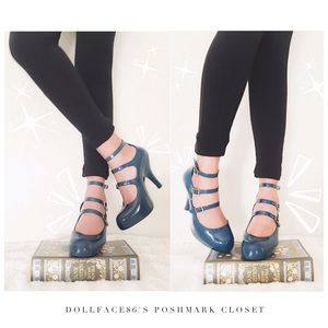 Vivienne Westwood Shoes - Vivian Westwood Melissa Dark Teal Heels