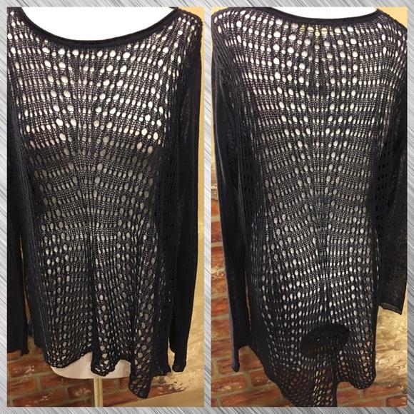 Eileen Fisher - 💜Eileen Fisher Navy Crochet Sweater💙 from Gigi's ...