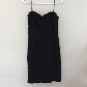 Carmen Marc Valvo Dresses & Skirts - Strapless black lace dress