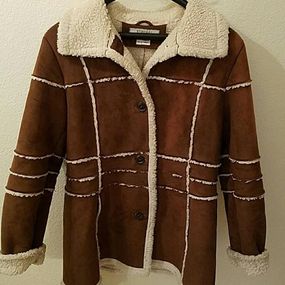 Izzi - IZZI outerwear brown faux suede medium coat from Brentu0026#39;s closet on Poshmark