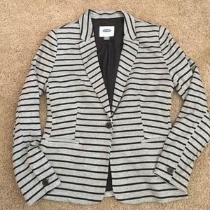 Old Navy gray and black striped blazer - small