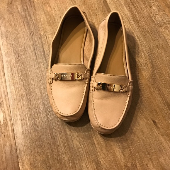 d42e682b157 Coach Shoes - Coach Nude leather loafers