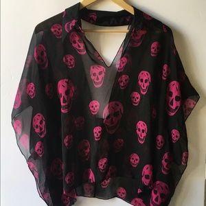 lip service Tops - Lip service skull blouse