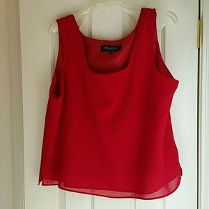 MONTEE COLLECTION Tops - NWOT  SZ 18 Deep red MONTEE COLLECTION tank top