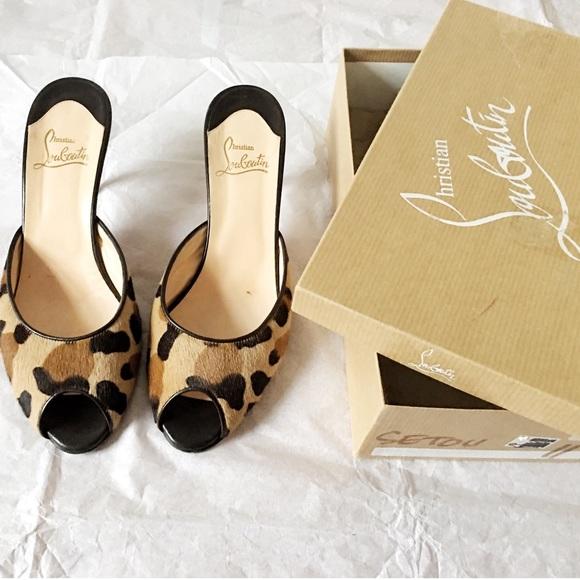 04e424c7a68 Christian Louboutin Shoes - CYBER MONDAY🌷 Auth. Louboutin Leopard Heel  Sandal