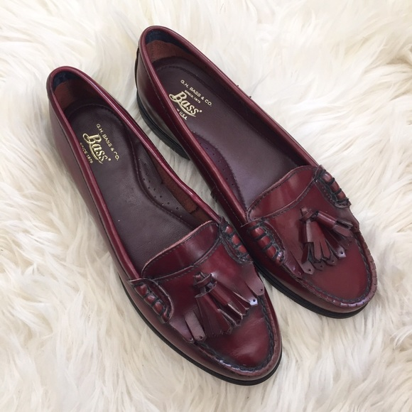 875fdde31bc Bass Shoes - G.H. Bass Jaclyn Tassel Burgundy Leather Loafers