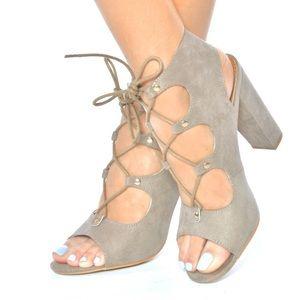 ShuShop Shoes - ShuShop Taupe Heels