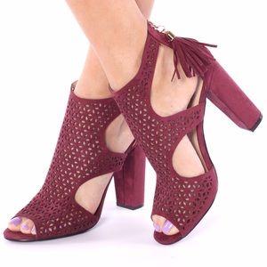 ShuShop Shoes - ShuShop Bordeaux Wine Heels
