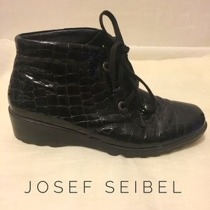Josef Seibel Shoes - Patent leather Black Wedges