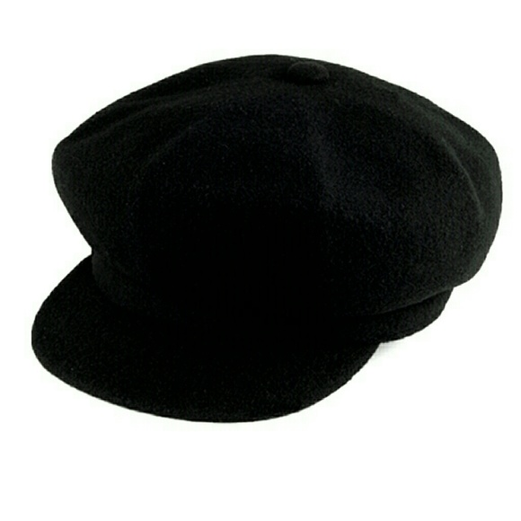 349e06dff3b Kangol Accessories - Vintage Black Wool Kangol Newsboy Cap