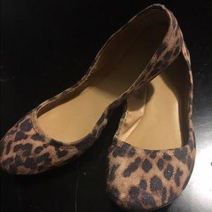 Mossimo leopard scrunch ballet flats