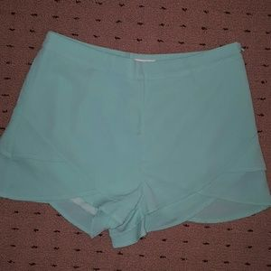 Mint/ aqua dress shorts