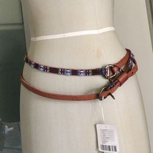 NWT free people double wrap leather belt S-M